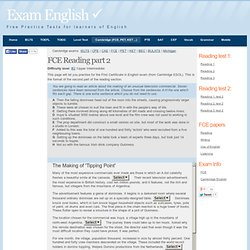 FCE Reading Test part 2. Free Practice for the First Certificate exam