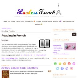 French Reading Practice - Learn French at Lawless French