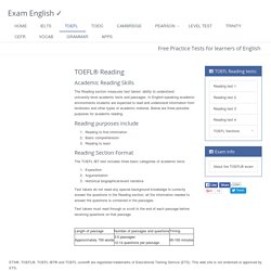 TOEFL® reading : free practice exercises from Exam English