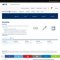 The ACT Reading Practice Test Questions