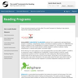 The Lexile® Framework for Reading
