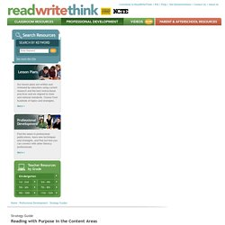 Reading with Purpose in the Content Areas