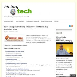 12 reading and writing resources for teaching social studies