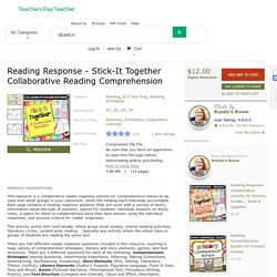 Reading Response - Stick-It Together... by Runde's Room