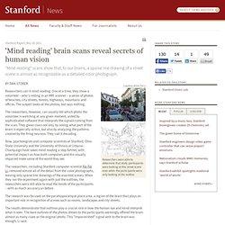 'Mind reading' brain scans reveal secrets of human vision