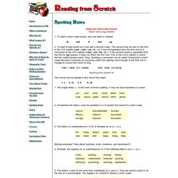 Reading from Scratch - Spelling Rules