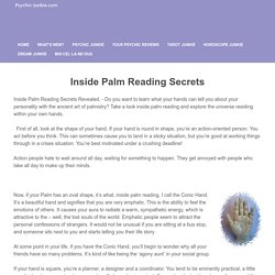 Inside Palm Reading Secrets Revealed