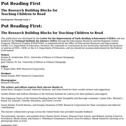 Reading Skills Pyramid - Put Reading First Intro