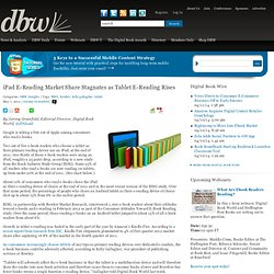 iPad E-Reading Market Share Stagnates as Tablet E-Reading Rises