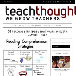 25 Reading Strategies That Work In Every Content Area