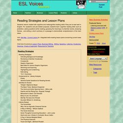 Reading Strategies and Lesson Plans