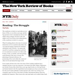 Reading: The Struggle by Tim Parks