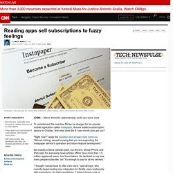 Reading apps sell subscriptions to fuzzy feelings