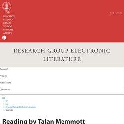 Reading by Talan Memmott