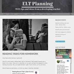 Reading tasks for homework