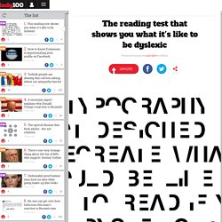 The reading test that shows you what it's like to be dyslexic