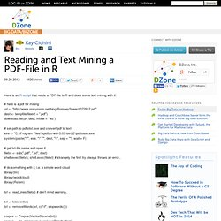 Reading and Text Mining a PDF-File in R