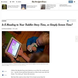 Is E-Reading to Your Toddler Story Time, or Simply Screen Time?