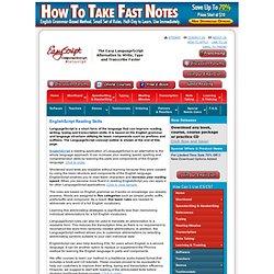 Speed Reading Tips & Speed Reading Training – EasyScript