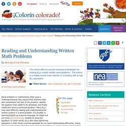 Reading and Understanding Written Math Problems