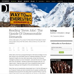 "Reading ""Steve Jobs"": The Upside Of Unreasonable Demands 