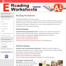 Free Reading Worksheets
