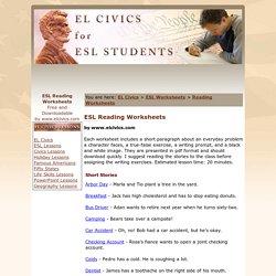 ESL Reading Worksheets - Short Stories - Free