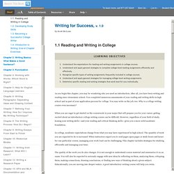 Reading and Writing in College