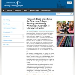 The Reading & Writing Project - Research Base