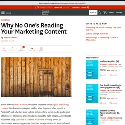 Why No One's Reading Your Marketing Content