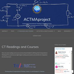 CT Readings and Courses – ACTMAproject