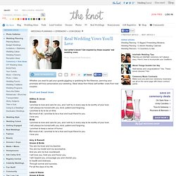 Wedding Vows & Readings: Favorite Wedding Vows From Real Weddings - Wedding Planning -