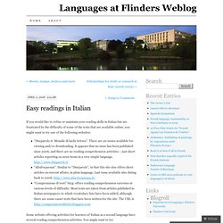 Languages at Flinders Weblog