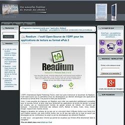 Readium : l'outil Open-Source de l'IDPF pour les applications de lecture au format ePub 3