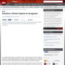 Readium, l'ePub 3 depuis le navigateur