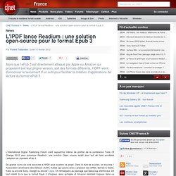 L'IPDF lance Readium : une solution open-source pour le format Epub 3