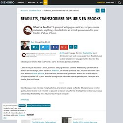 Readlists, transformer des URLs en eBooks