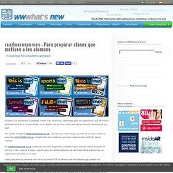 readmeresources – Para preparar clases que motiven a los alumnos