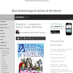 Readmill - a beautiful ebook reader (Review)