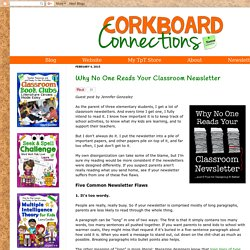 Why No One Reads Your Classroom Newsletter
