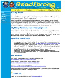 ReadStrong - Making Words