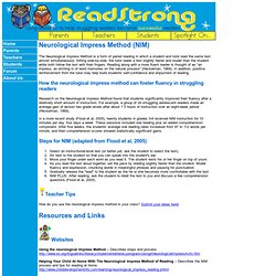 ReadStrong - Neurological Impress Method