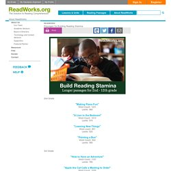 Passages for Building Reading Stamina