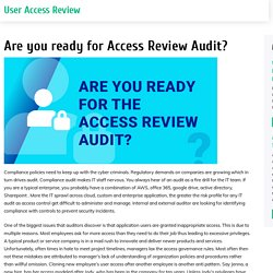 Are you ready for Access Review Audit?