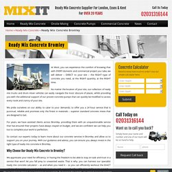 Order Ready Mix Concrete in Bromley From MixIt