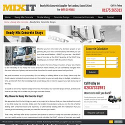 Ready Mix Concrete Grays - A Reputed Concrete Company in Grays