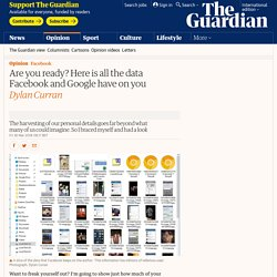 Are you ready? This is all the data Facebook and Google have on you