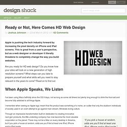 Ready or Not, Here Comes HD Web Design