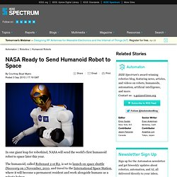 NASA Ready to Send Humanoid Robot to Space