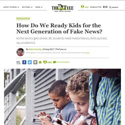 How Do We Ready Kids for the Next Generation of Fake News?